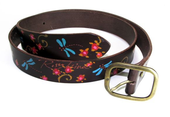 brown leather belt dragonflies rosssymina