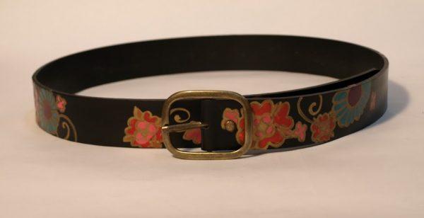 black leather belt rossymina