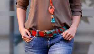 Colorful Belt with Flowers