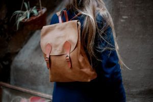 Tan color backpack