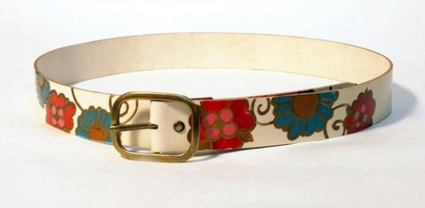 white leather belt rossymina