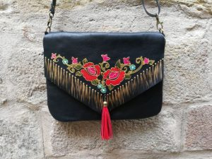 Black Leather Bag Manton de Manila