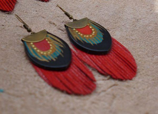 red earrings rossymina