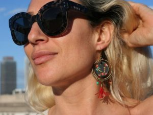 Dragonfly HoopEarrings with tassel