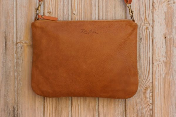 tan zipper bag