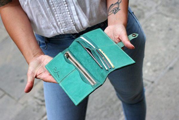 teal large wallet