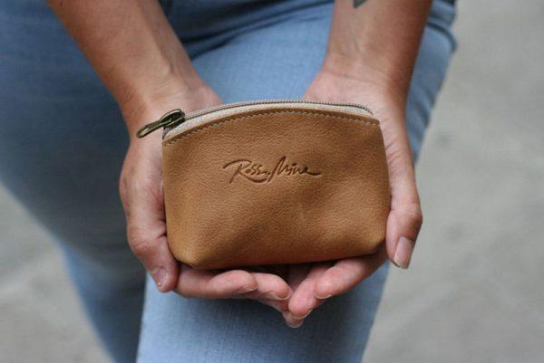 tan change purse
