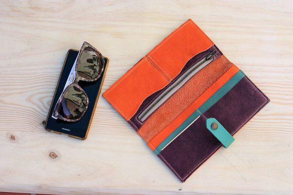 orange large wallet