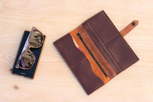 brown large wallet