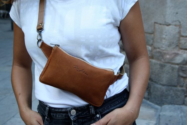 tan color fanny pack