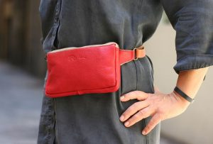 Rich red fanny pack