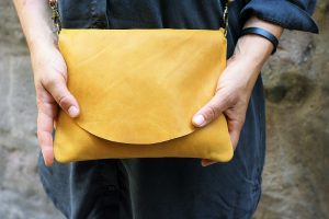 Mustard Yellow Leather Bag