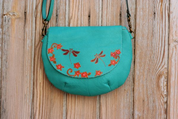 teal dragonflies bag