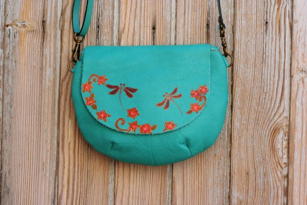 teal dragonflies bag