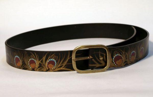 belt black peacock