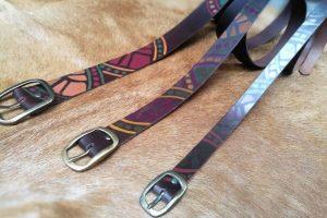 belts brown geometric