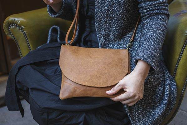 tan color leather bag rossymina
