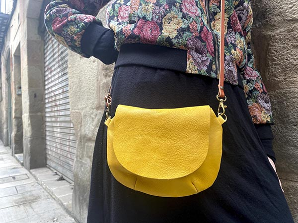 yellow leather small bag rossymina