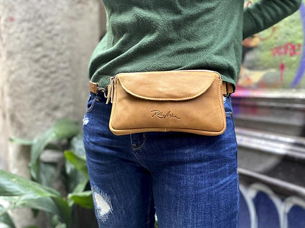 tan leather fanny pack rossymina