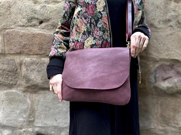 burgundy leather bag rossymina