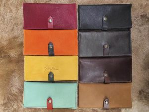 Large Leather Wallet Organizer in colors