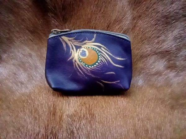 purple peacock coin purse