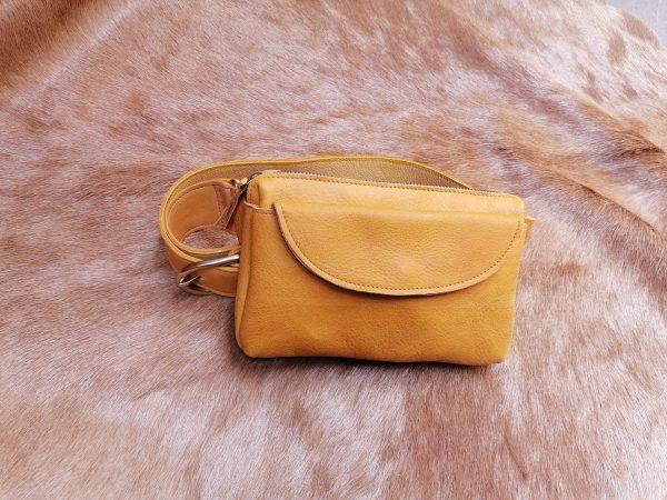 mustard yellow fanny pack rossymina