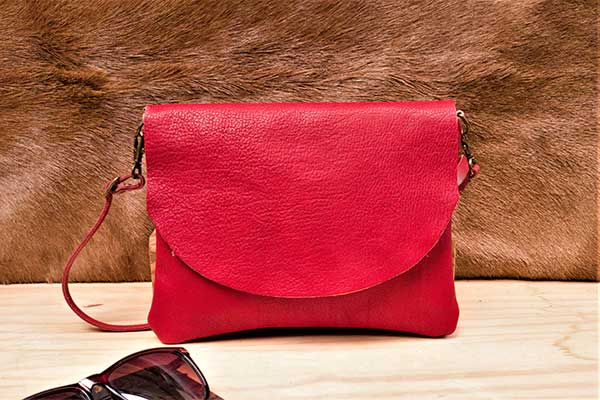 red leather bag rossymina