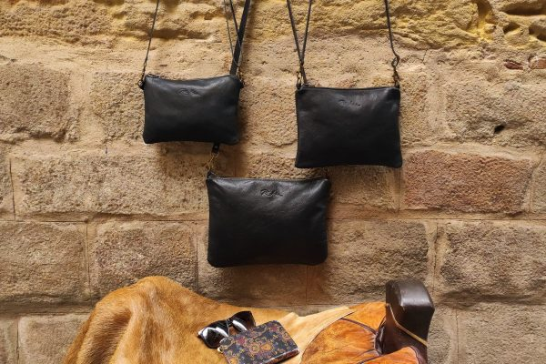 black zip bag