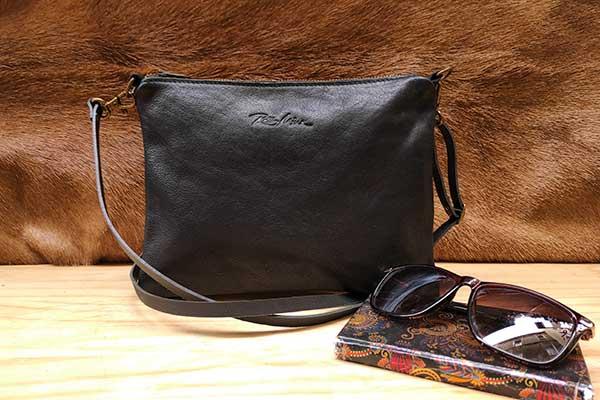 black zip crossbody leather bag rossymina