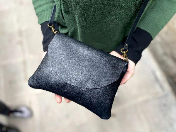 black flap bag
