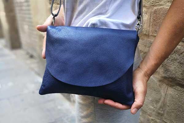 blue leather bag rossymina