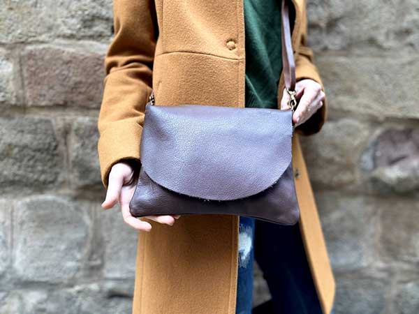brown leather bag rossymina