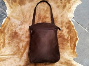 Black Leather Convertible Bag