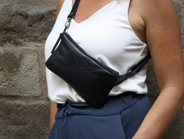 black fanny pack Rossymina