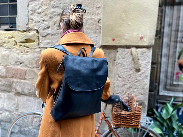black leather backpack rossyminna
