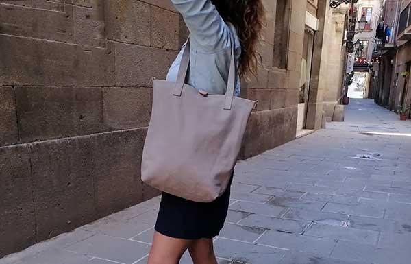 gray tote bag rossymina